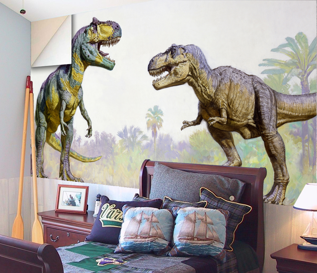 Dinosaur wall mural the best inspiration for interiors for Dinosaur mural ideas